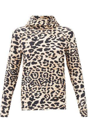Paco rabanne Leopard-print Hooded Jersey Sweatshirt - Womens - Leopard