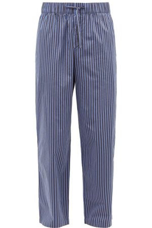Tekla Striped Organic-cotton Pyjama Trousers - Mens - Navy/