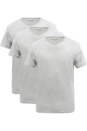 Paul Smith Men Pajamas - Pack Of Three Cotton-blend Jersey Pyjama Tops - Mens - Grey