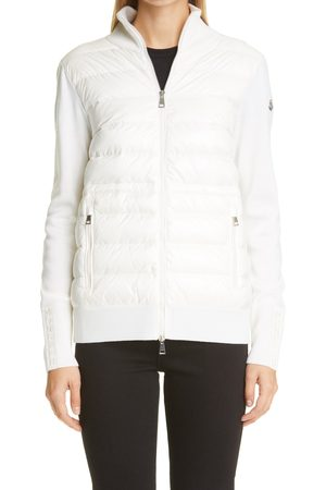 Moncler Women's Quilted Down & Wool Long Cardigan