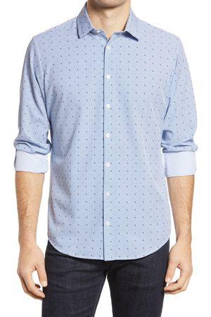 Mizzen+Main Men's Mizzen + Main Leeward Neat Stripe Button-Up Performance Shirt