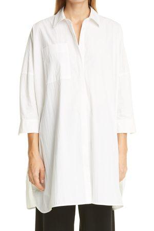CO Women's Oversize tton Blend Shirt