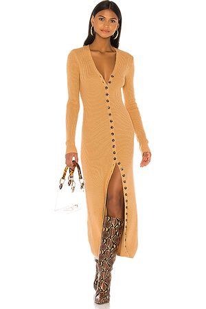 LPA Kavala Sweater Dress in Tan.