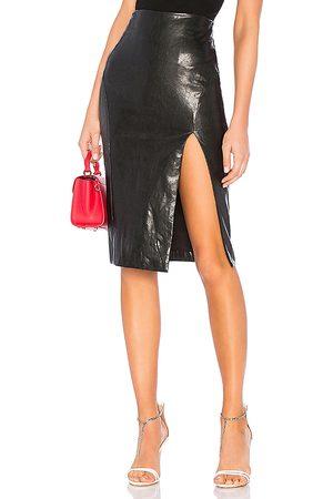 superdown Jezabel Faux Leather Midi Skirt in .
