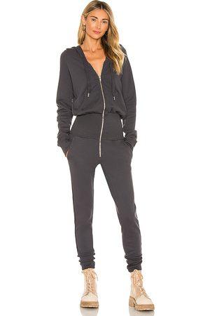 NSF Stasia Knit Zip Jumpsuit in Black.