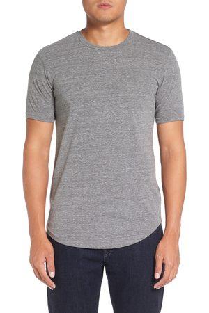miss goodlife Men's Triblend Scallop Crewneck T-Shirt