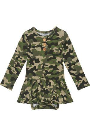 Posh Peanut Infant Girl's Cadet Henley Twirl Bodysuit