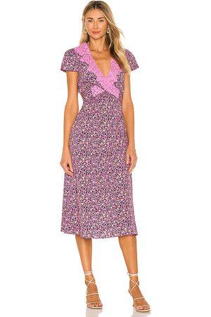 LOVESHACKFANCY Minuet Dress in Purple.