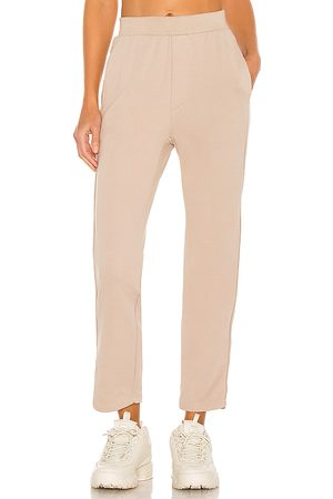NSF Clarence Relaxed Track Pant in Beige.
