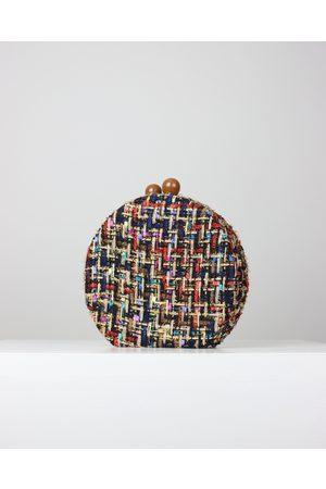Blaiz BB132-B Black Tweed Clutch Bag
