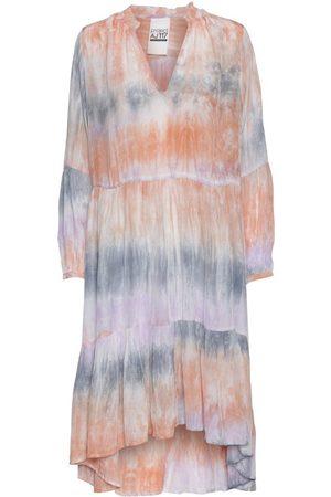 AJ117 Gael Tie Dye Dress in Pastel