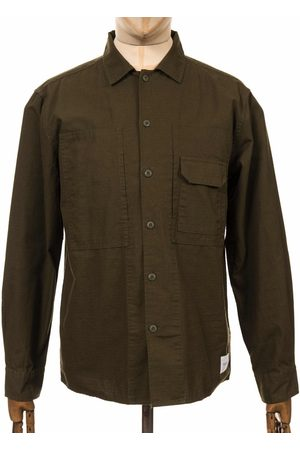 Parlez L/S Furl Shirt - Khaki Size: Small, Colour: Khaki
