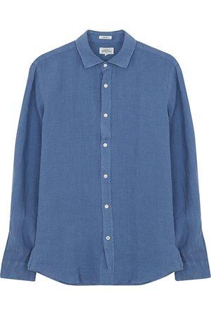 HARTFORD Sammy Linen Shirt in Ocean