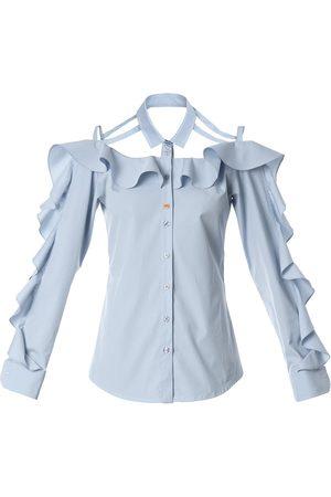 Talented Ruffled bare shoulder shirt