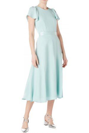 GOAT Jewel Cady Midi Dress Aqua