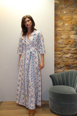 Nimo with Love Topaz Wrap Dress in X Stitch Embroidery