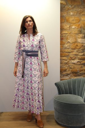 Nimo with Love Achat Long X Stitch Embroidered Dress