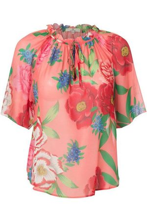 CHARLOTTE Wrinkle Blouse Silk Georgette (Pink or Yellow)