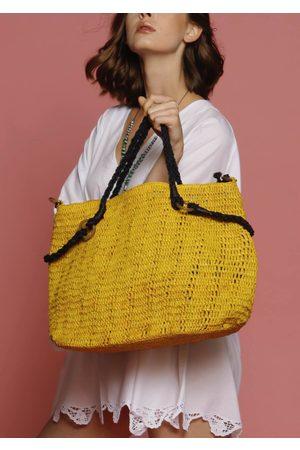 MARAINA LONDON Marianne raffia beach bag (large)