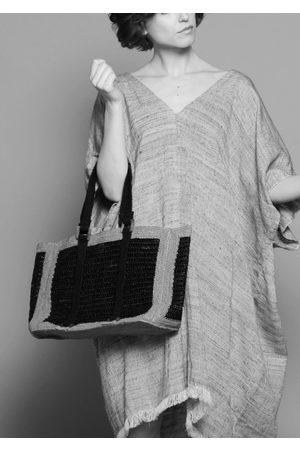 MARAINA LONDON AGNES large beach bag- Plain or Black and