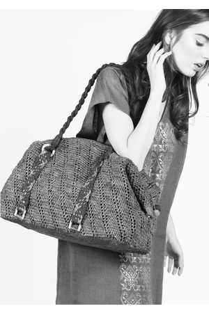 MARAINA LONDON RITA raffia weekend Holdall bag