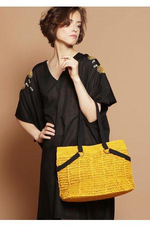 MARAINA LONDON MAGALIE raffia Shoulder Bag in
