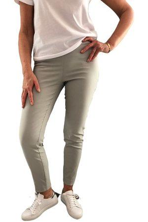 "Up Pants 65207 Techno 28"" Petal Slit Pull On Trouser - Dove Grey"