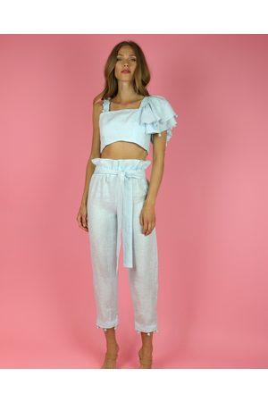 Waimari Women Jeans - Sky Allora Linen Pants