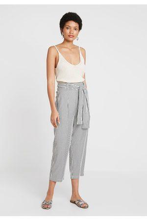 Just Female Cropped Stripe Beach Trousers