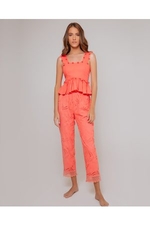 Waimari Coral Villa Palma Cotton Pants