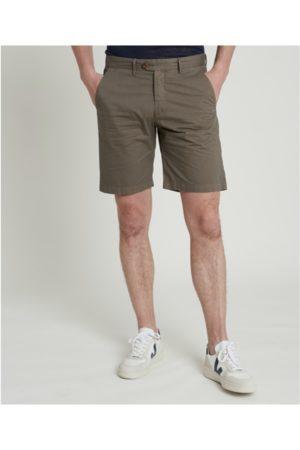 HARTFORD Bobby Woven Shorts in Olive Argile