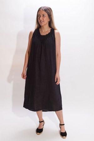 Crossley Ligil Frill Neck Sleeveless Dress in Navy