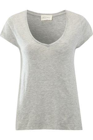 American Vintage Jacksonville Short Sleeve Top - Heather Grey