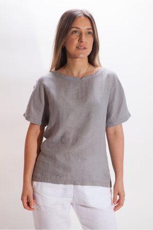 Belluna Joel Short Sleeve Linen Top