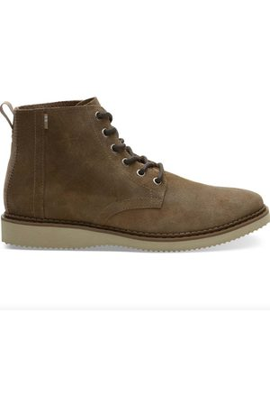 TOMS Waxy Suede Porter Boot - Distressed Tan