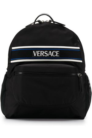 VERSACE Nylon Logo Backpack BAGS > Backpacks Man