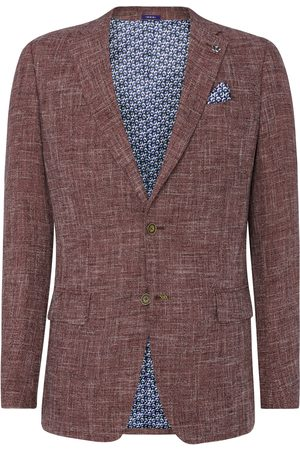 Vangils Ellison Burgundy & White Textured Blazer
