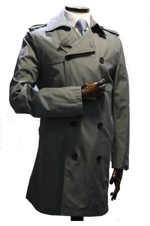 Digel Academy Grey Double-Breasted Trench Coat