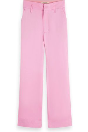 Scotch&Soda Women Jeans - Pink Violet Tailored Cropped Trousers