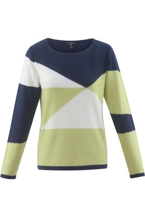 Marble 5670 Navy, white, Lime Sweater