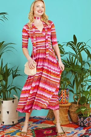 Onjenu Crawford Midi Dress in print - New Season