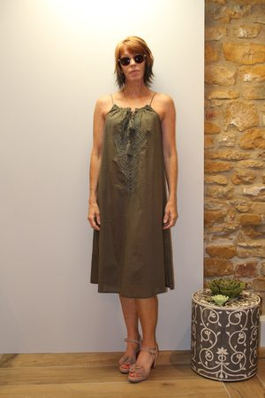 Ilse Jacobsen Voile Dress in Army
