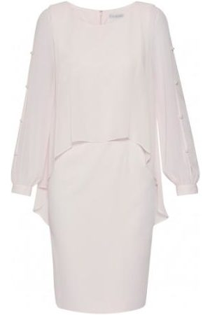 Gina Bacconi Anushka Chiffon Cape Dress Pale SSS1162