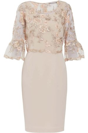 Gina Bacconi Soft Blush Nola Embroidered Dress SBZ5568