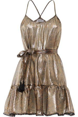 Paolita Cassiopeia Silk Ruffle Mini Dress
