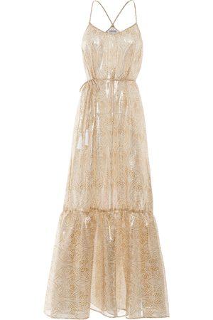 Paolita Dorado Silk Ruffle Maxi Dress