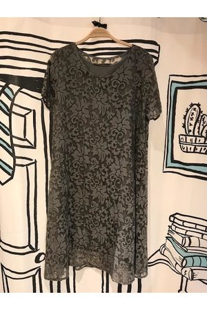 Out Of Xile Vintage Sheer Midi Dress in Grey