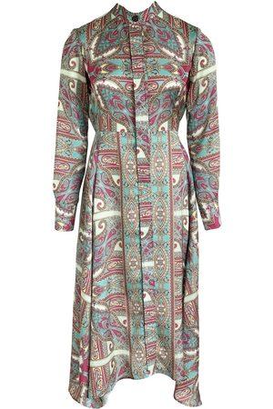 Anna Etter Long Sleeve Paisley Print Summer Dress