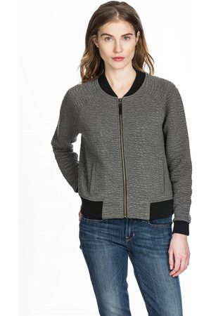 Lilla P Quilted Bomber Jacket - Grey