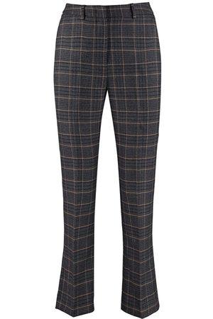 Max Mara Grey Checked Pantera Trousers 51360393